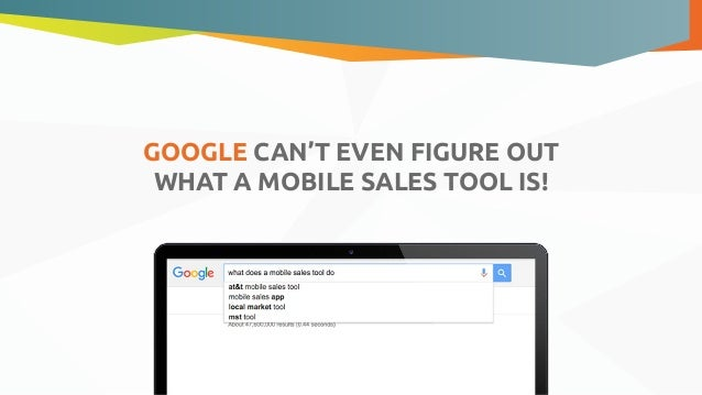what is a mobile sales tool