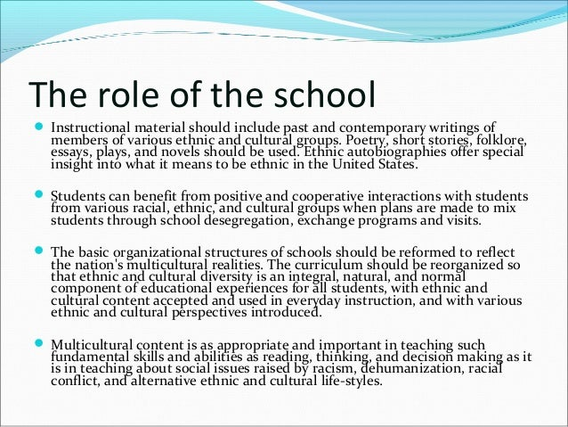 benefits of diversity in education essay Schlessinger argues that the only way to achieve social diversity without the fragmentation of society is to create an education system that lifts up cultural differences and teaches tolerance and understanding only through a system of multicultural education can people gain the cross-cultural experience necessary to interact in.
