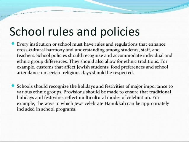 discuss the importance of school rules and regulations School rules and regulations the school rules have been established in partnership with the community over a long period of time.