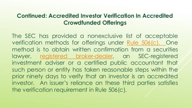 accredited investor verification What Is An Accredited Investor Verification Provider