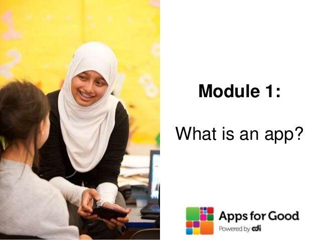 Module 1: What is an app?