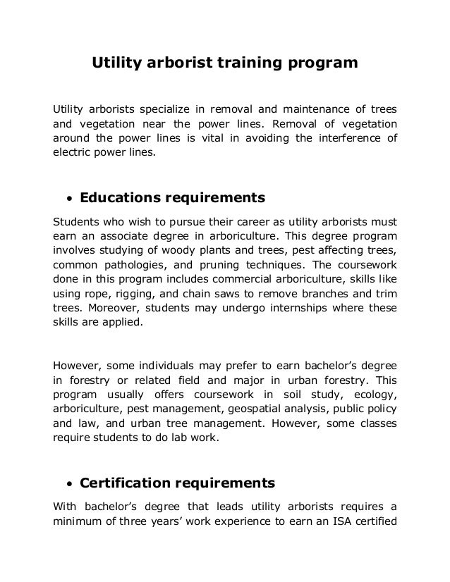 Consulting Arborist Resume what is an arborist 56 child care