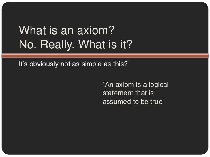 Euclids elements and the axiomatic method essay