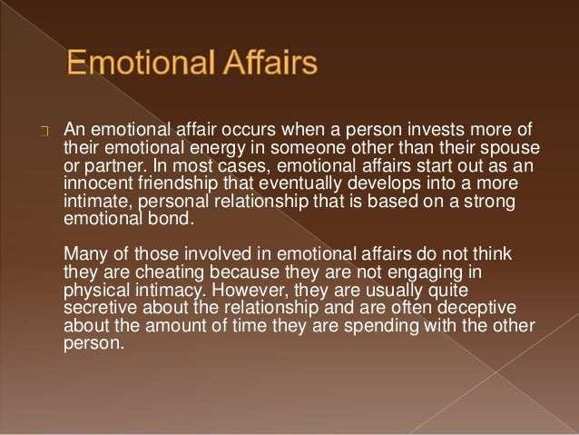 With Deal Affair Emotional To How
