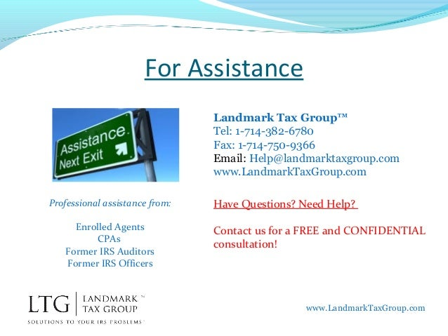 What is an IRS Enrolled Agent? - www.LandmarkTaxGroup.com