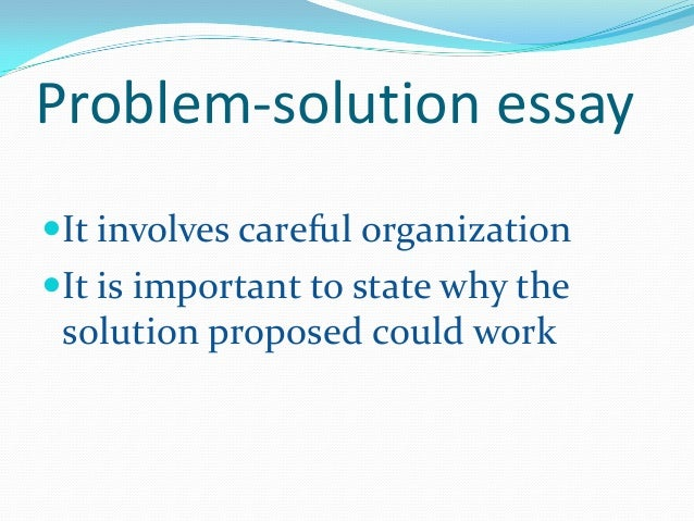 management problem solutions essay Internet problems and solutions essays and problem-solutions essay standing up for education education is one of demand chain management.