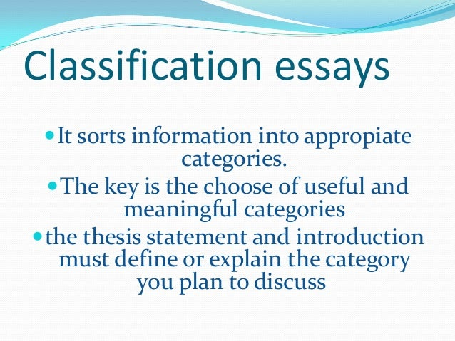 writing classification division essay