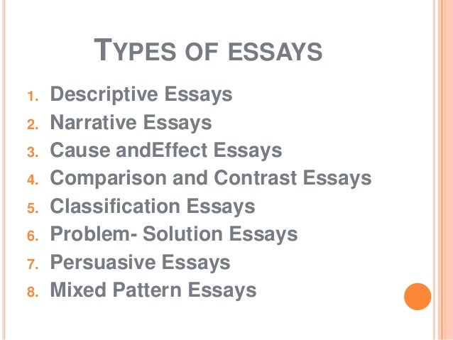 what is an essay types of essays