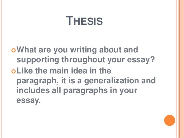 what is an essay 3 thesis what