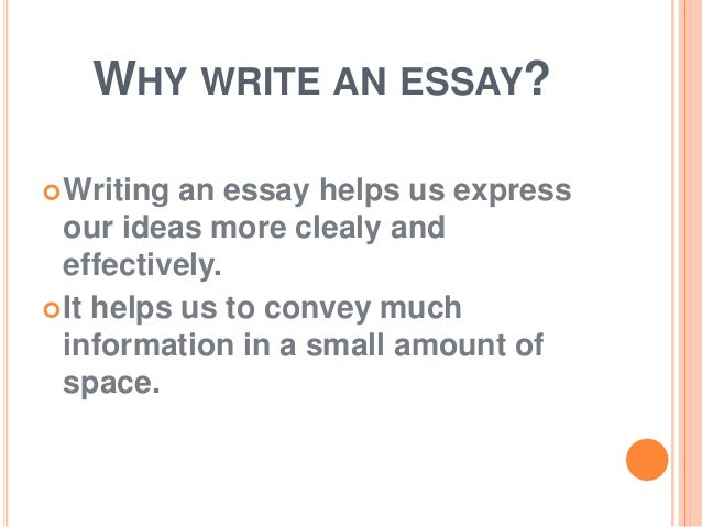 what is an essay 5 why write an essay