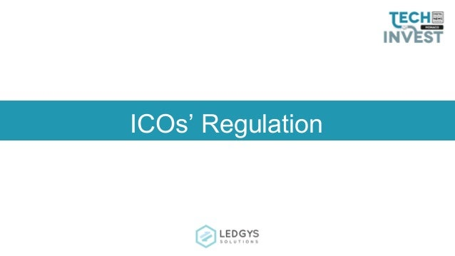 ICOs' Regulation