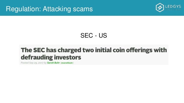 Regulation: Attacking scams SEC - US