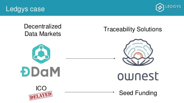 Ledgys case Traceability SolutionsDecentralized Data Markets ICO Seed Funding