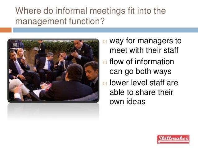 what is an informal meeting