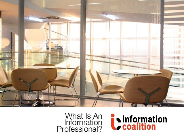 What Is An Information Professional?