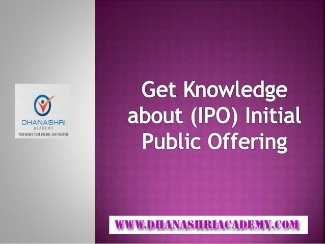 What is ipo of shares