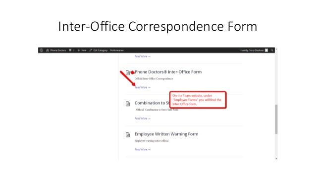 What is an inter office form