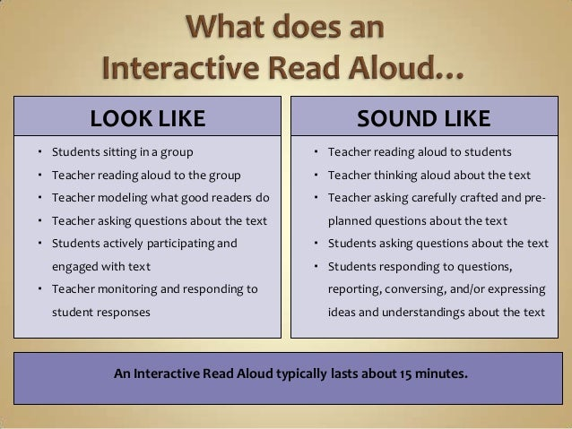 Image result for interactive read aloud