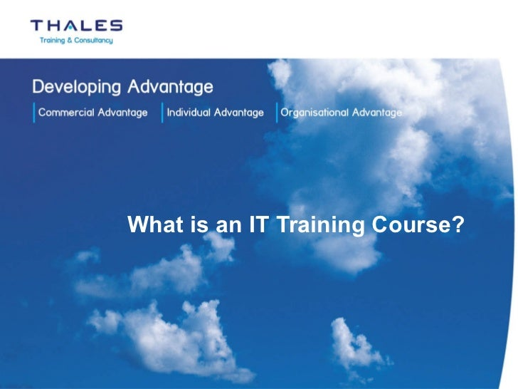 What is an IT Training Course?