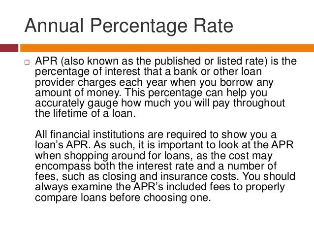What is Annual Percentage Rate?