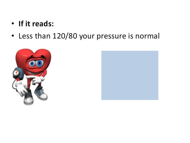 What is a Normal Blood Pressure Slide 2