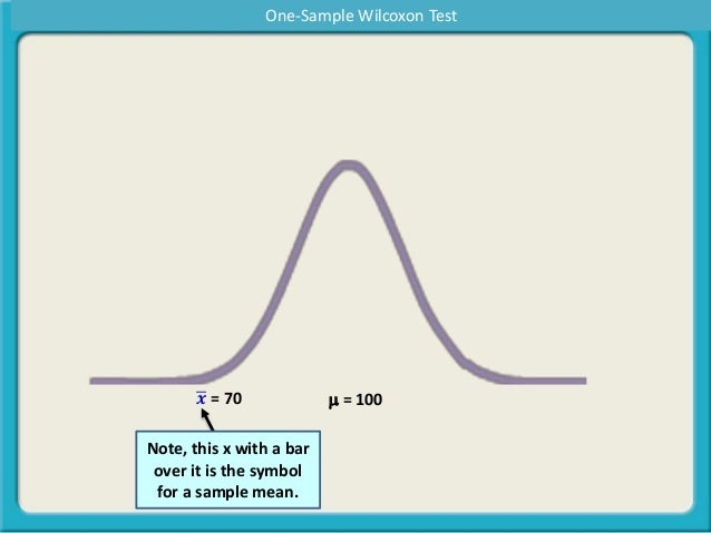 What Is A One Sample Wilcoxon Test