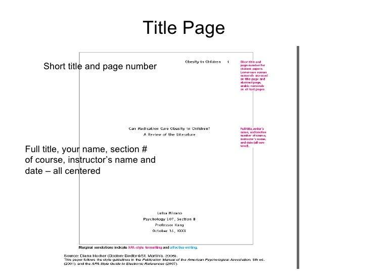 apa format book title