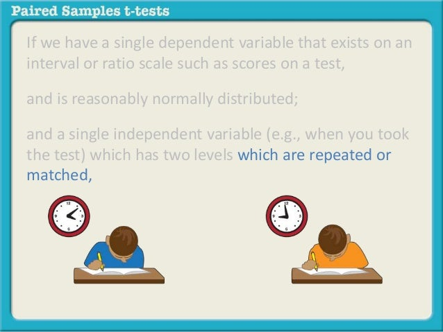 What is a paired samples t test