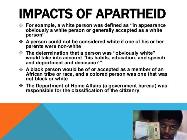 apartheid in south africa research paper Indication in south africa that this was the driving factor in spatial policy, although it has become increasingly important over time in this report, we argue that the underlying rationale of post-apartheid urban spatial policy has, in.