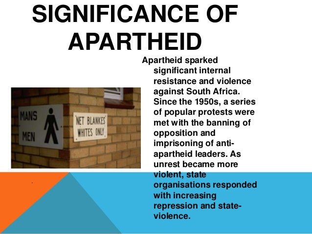 essay about apartheid in south africa The apartheid legislation was a system of governance that made a huge impact in south africa in the 20th century it was introduced by the national party after they.