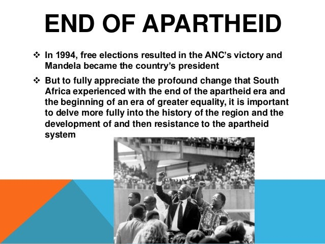 the apartheid in south africa