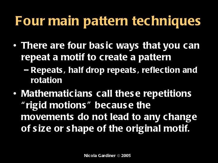 What is a pattern Slide 3
