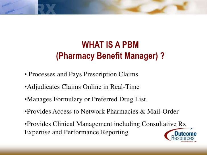 what is a pbm  hospice pharmacy services