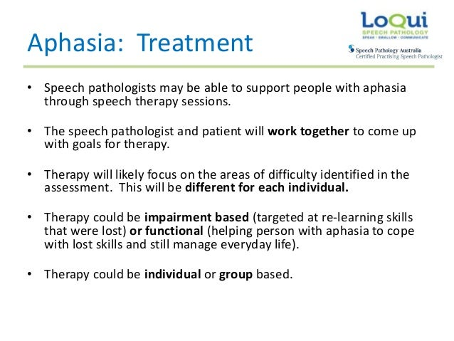 loqui speech pathology: what is aphasia?, Skeleton