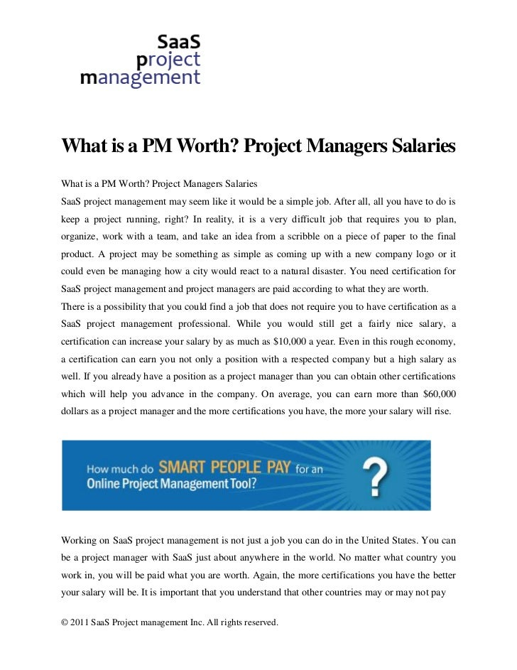What is a PM Worth? Project Managers SalariesWhat is a PM Worth? Project Managers SalariesSaaS project management may seem...