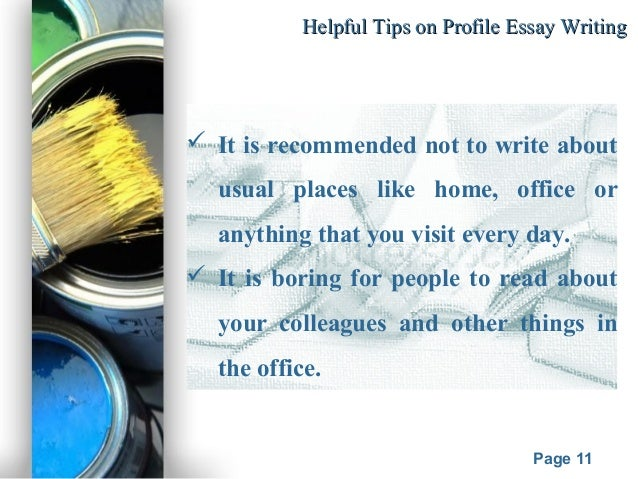 questions to ask when writing a profile essay Because each of the questions in the personal profile requires short essay  answers (anywhere from 50 to  questions to ask yourself before you begin  writing.