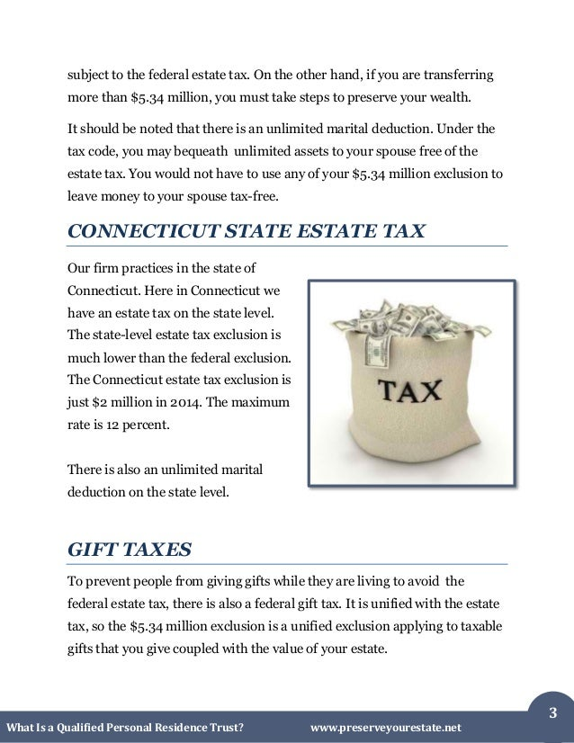 What is a Qualified Personal Residence Trust in Connecticut Slide 3