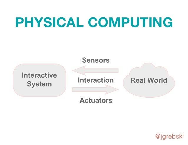PHYSICAL COMPUTING Interactive System Real World @jgrebski