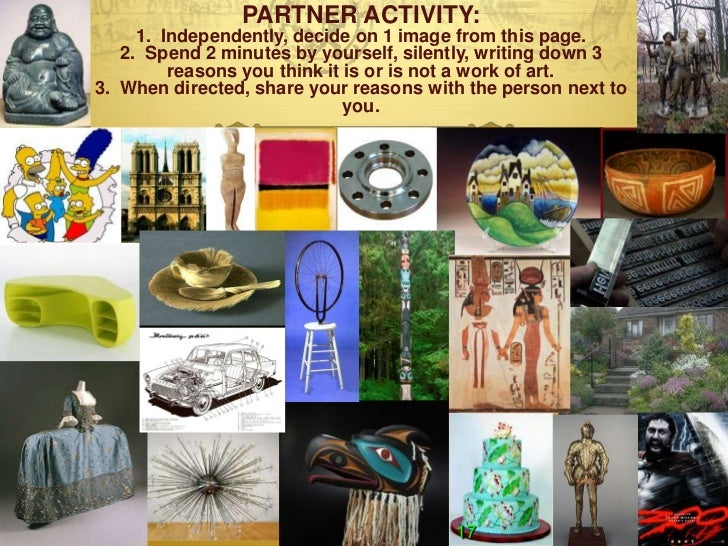 PARTNER ACTIVITY:     1. Independently, decide on 1 image from this page.   2. Spend 2 minutes by yourself, silently, writ...