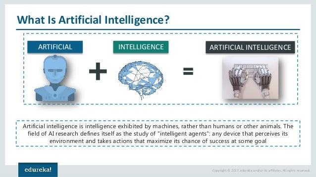 Copyright © 2017, edureka and/or its affiliates. All rights reserved. What Is Artificial Intelligence? ARTIFICIAL INTELLIG...