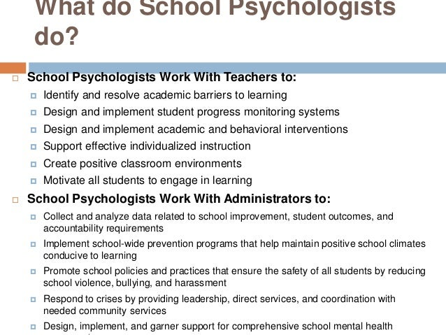 what is a school psychologist, Human Body