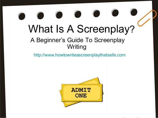Screenplay writing courses online