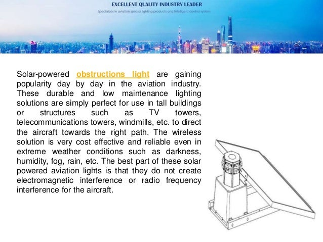 What is a solar obstruction light Slide 2