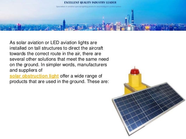 What is a solar obstruction light Slide 3