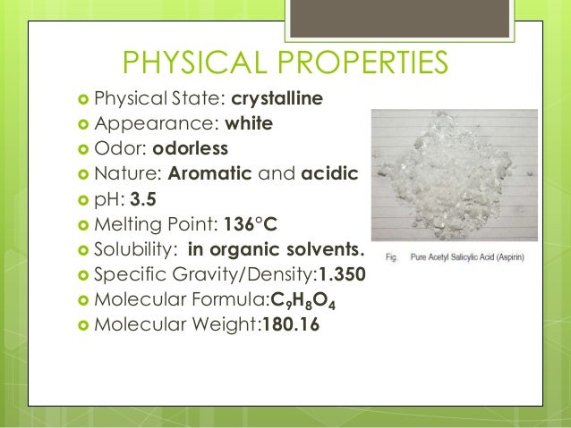 Salicylic Acid Physical And Chemical Properties