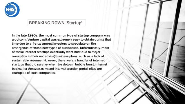 What is a start up? 2017 Slide 2