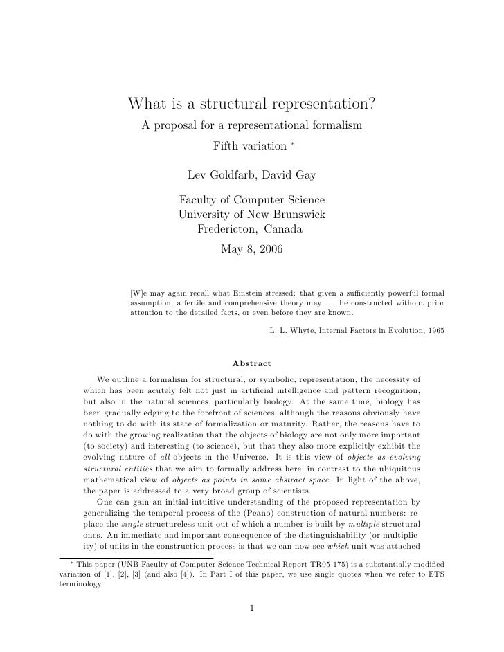 What is a structural representation?                        A proposal for a representational formalism                   ...