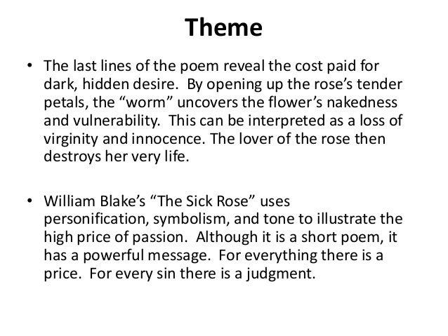 blake the sick rose analysis