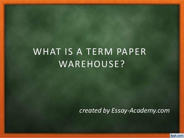 term warehouse paper