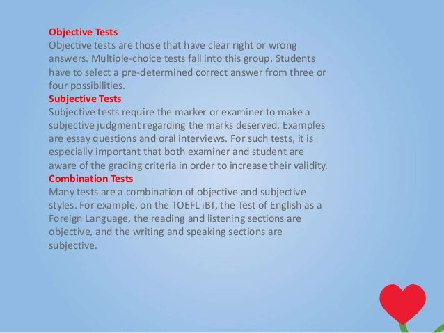 advantages of essay type tests
